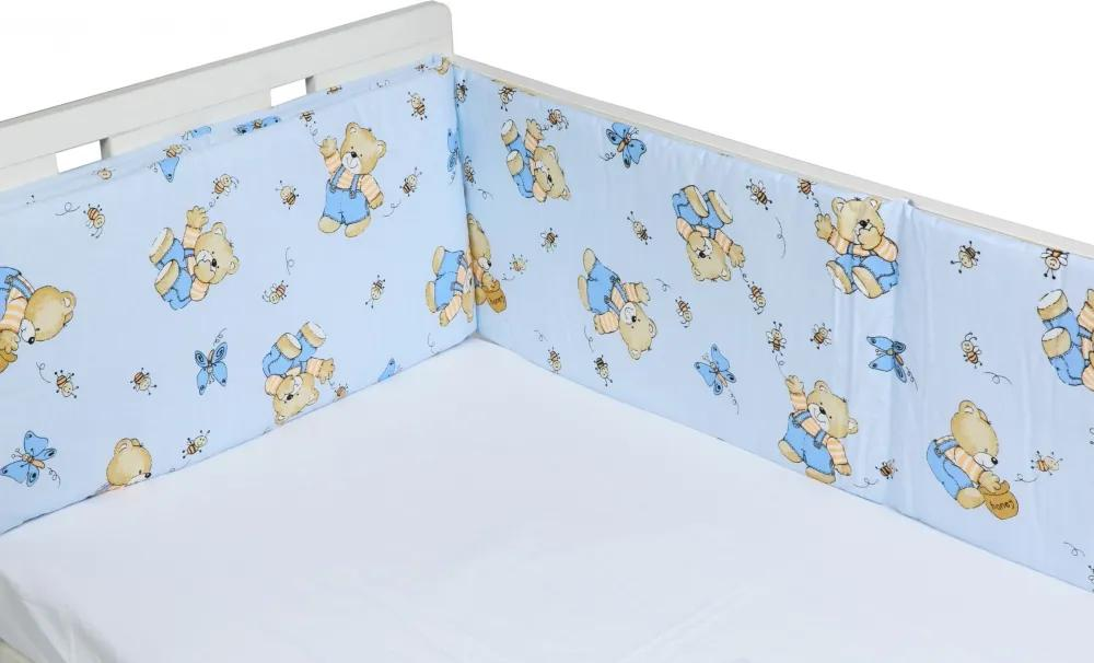 Aparatori laterale pentru pat Honey Bear Blue