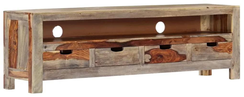 247750 vidaXL Comodă TV, 130 x 30 x 40 cm, lemn masiv de sheesham