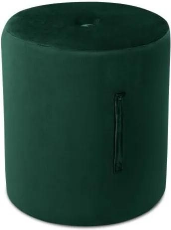 Puf Mazzini Sofas Fiore, ⌀ 40 cm, verde
