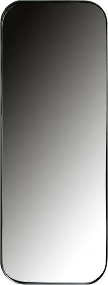 Oglinda dreptunghiularar cu rama din metal neagra Doutze, 110x40x5 cm