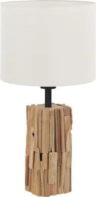 Veioza Portishead E27 max. 1x40W, alb/lemn natur