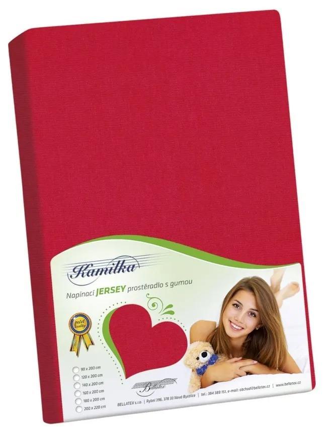 Cearşaf Jersey Kamilka, roşu, 100 x 200 cm, 100 x 200 cm