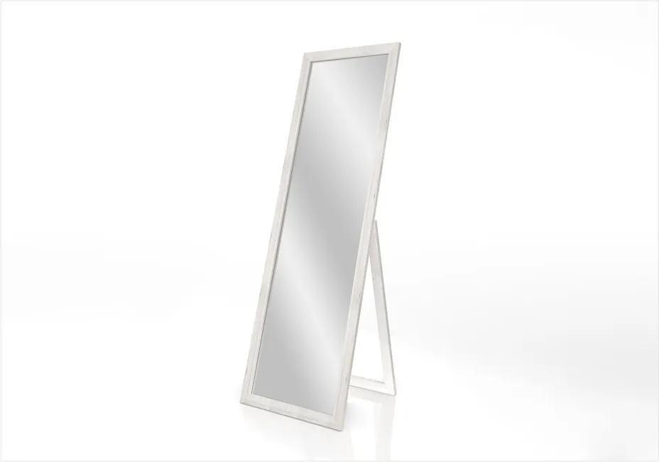 Oglindă cu suport și ramă Styler Sicilia, alb, 46 x 146 cm