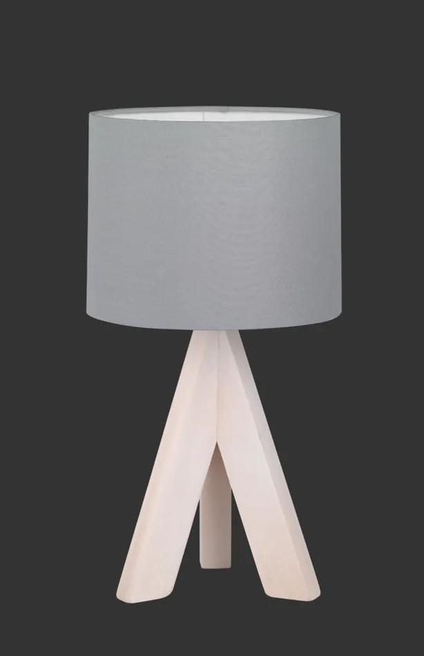 Trio GING R50741042 Lampa de masa de noapte lemn Lemn excl. 1 x E14, max. 40W IP20