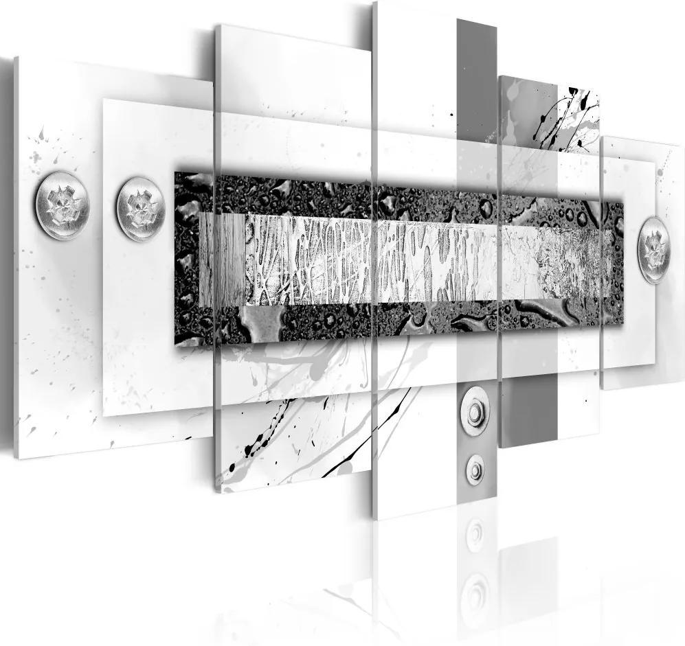 Tablou Bimago - Gray Balance 100x50 cm