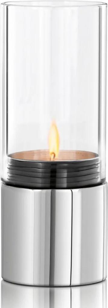 Sfeșnic oțel inoxidabil lustruit / sticlă transparentă FARO, Blomus
