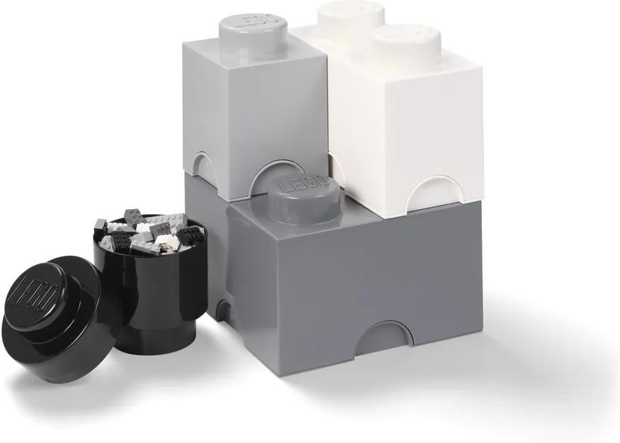 Set 4 cutii de depozitare din plastic LEGO®, 25 x 25 x 33 cm