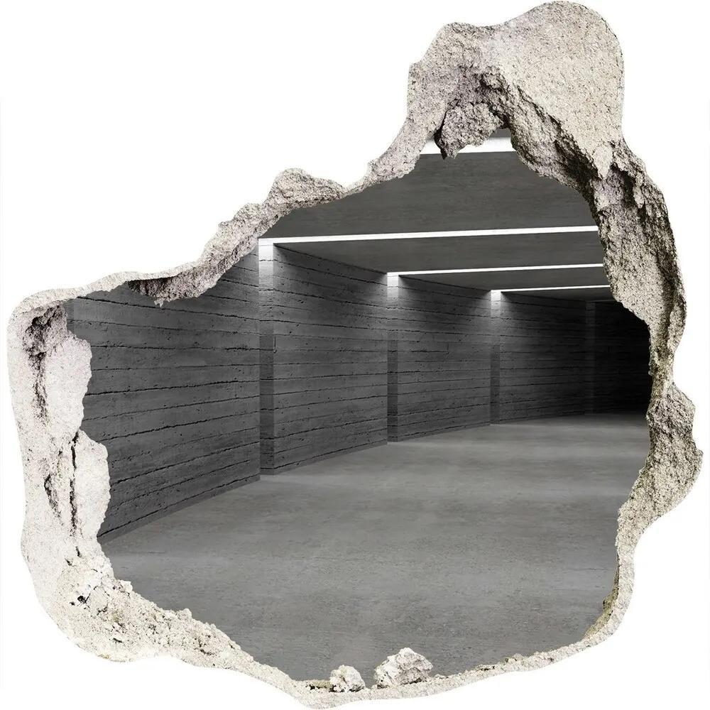Autocolant gaură 3D Tunelul de beton