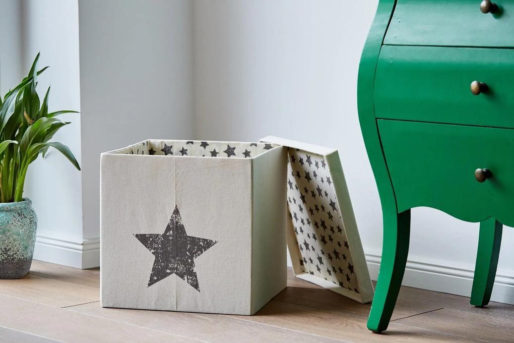 Cutie cu capac pentru depozitare   - Natur 33x33x33 cm