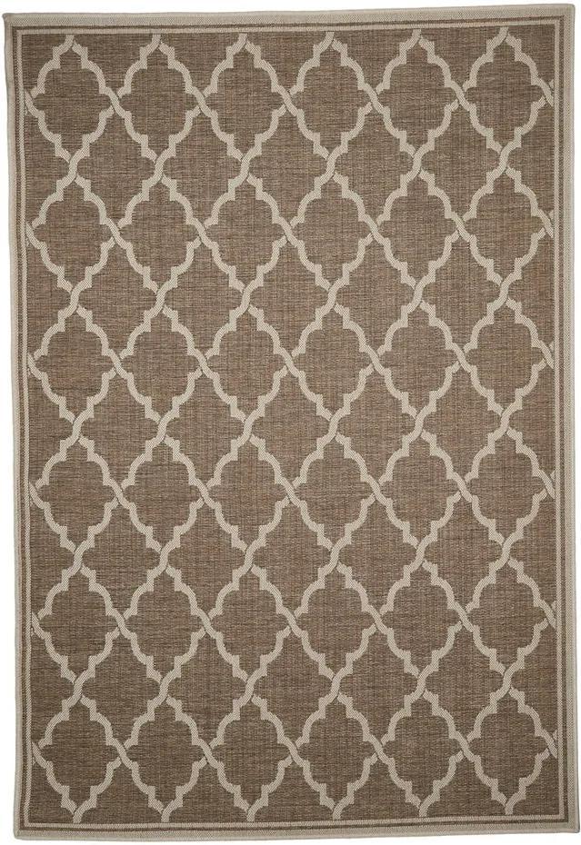 Covor adecvat pentru exterior Floorita Intreccio Natural, 160 x 230 cm, maro