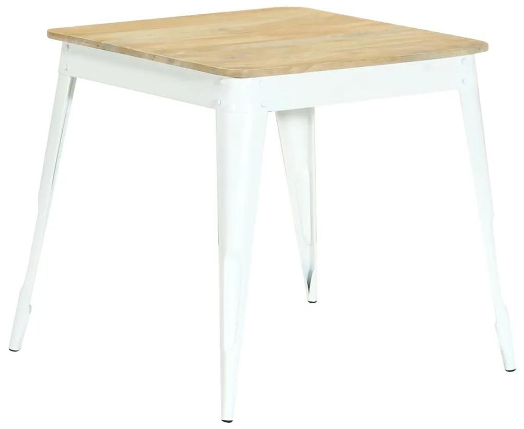 283775 vidaXL Masă de bucătărie, 75x75x76 cm, lemn masiv de mango