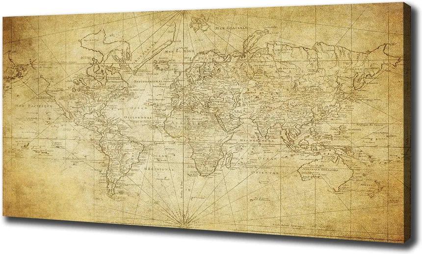 Pictură pe pânză Harta lumii vechi
