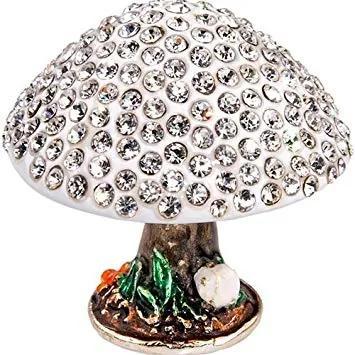 Cutie pentru bijuterii ciuperca cu pietre tip Svarowski