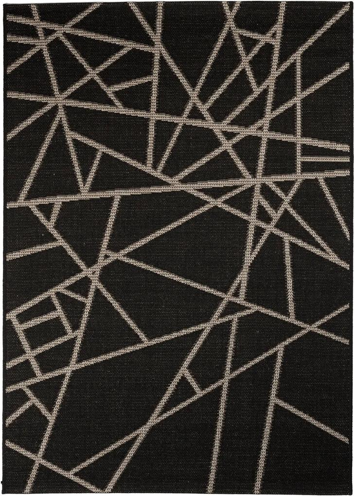 Covor Modern & Geometric Ovideo, Negru/Gri, 120x170 cm