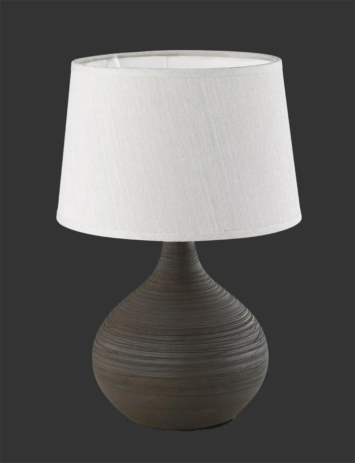 Trio MARTIN R50371026 Lampa de masa de noapte maro ceramică excl. 1 x E14, max. 40W IP20