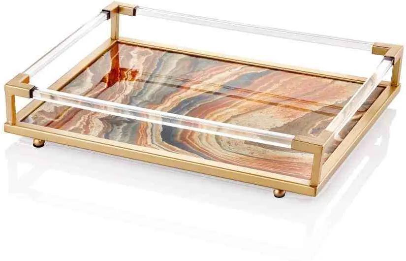 Tava Marble Bej - 46 x 32 x 10 cm