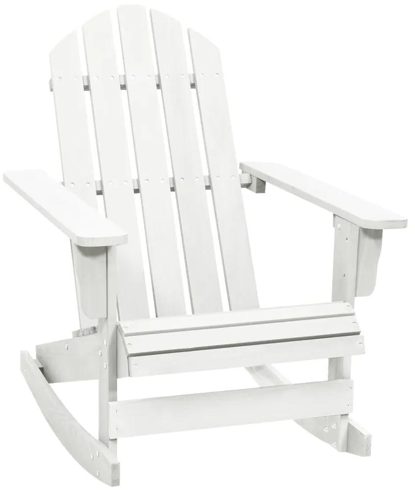 40861 vidaXL Balansoar de grădină, alb, lemn