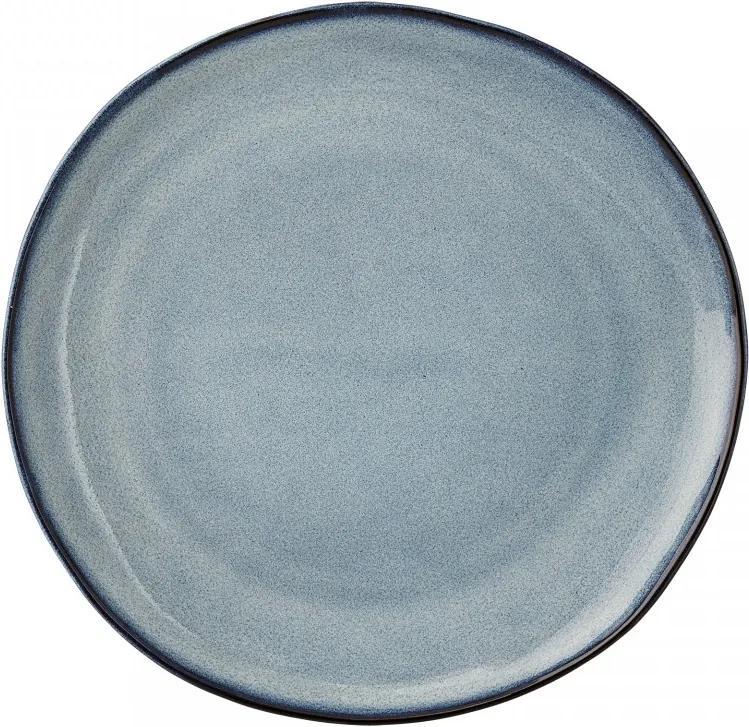 Farfurie lucrata manual ceramica albastru Ø22 Sandrine Bloomingville