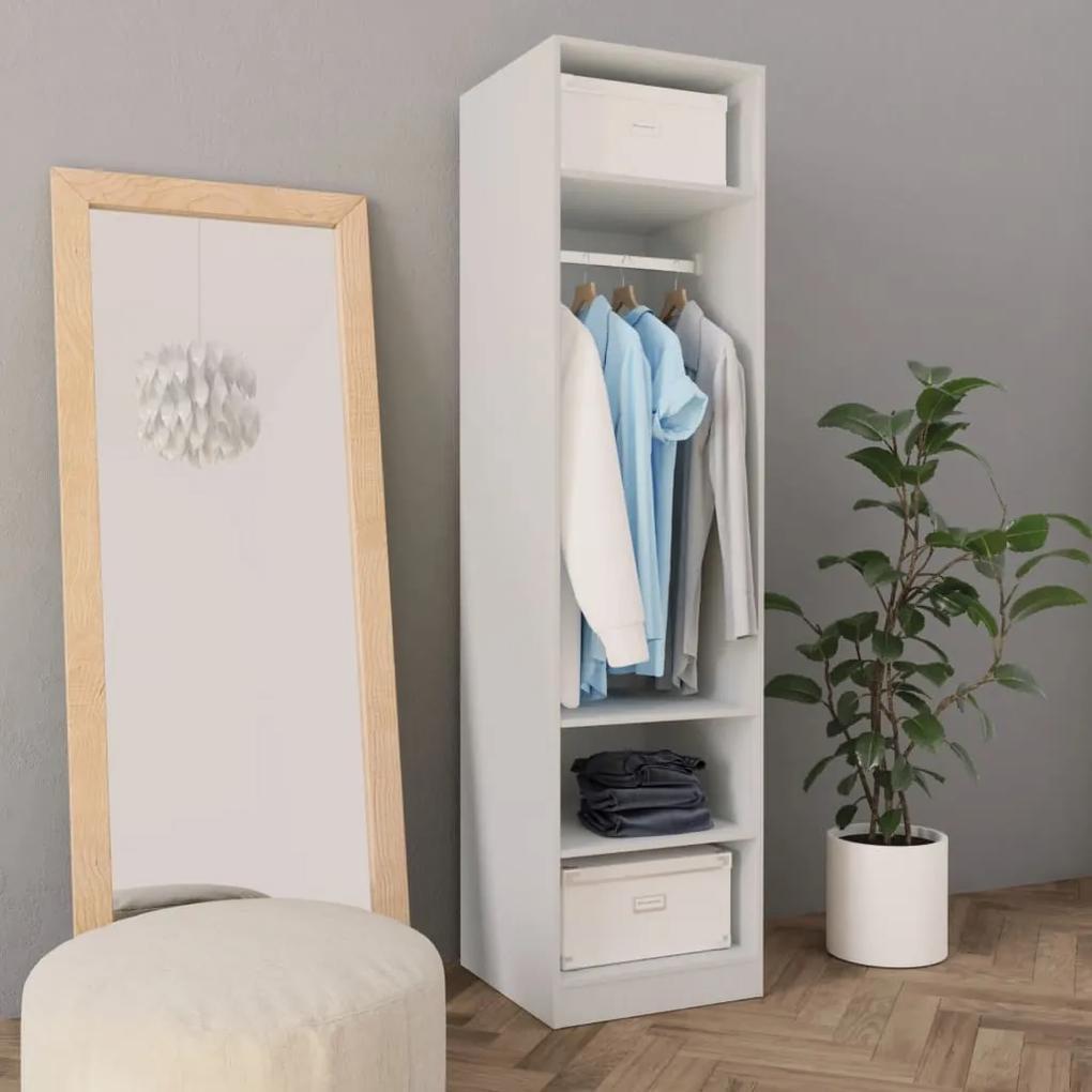 800234 vidaXL Șifonier, alb, 50 x 50 x 200 cm, PAL