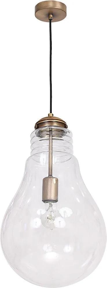 Lampa suspendata BULBO 1xE27/60W bronz
