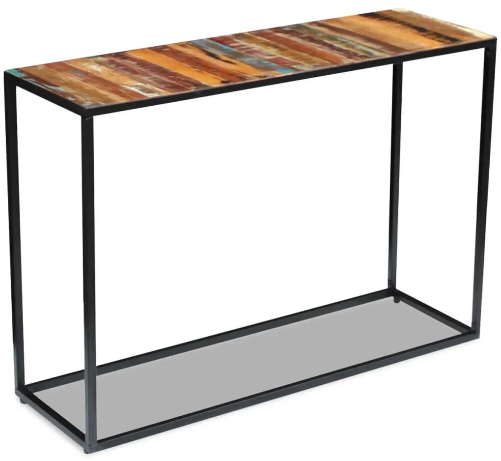 243337 vidaXL Masă consolă, 110x35x76 cm, lemn masiv reciclat