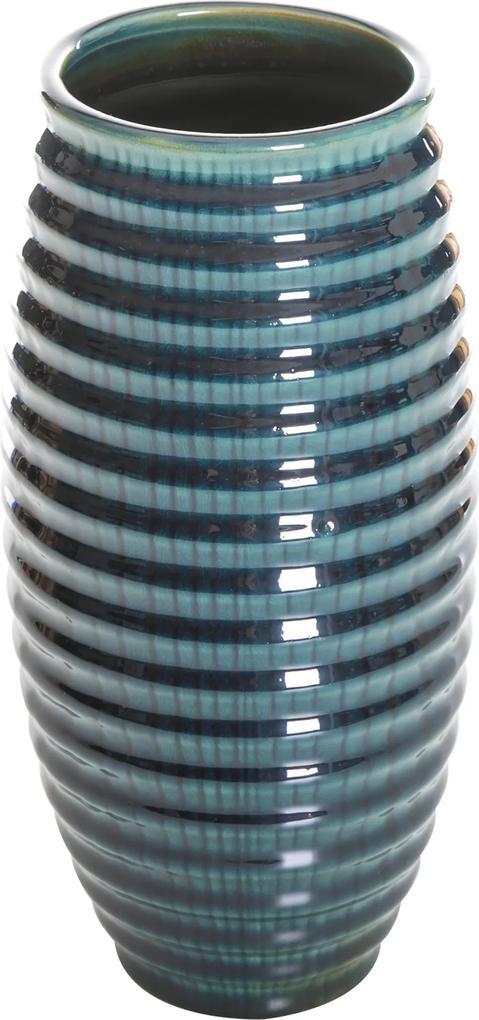 Vază din ceramică AGALIA albastru 13X13X27 cm