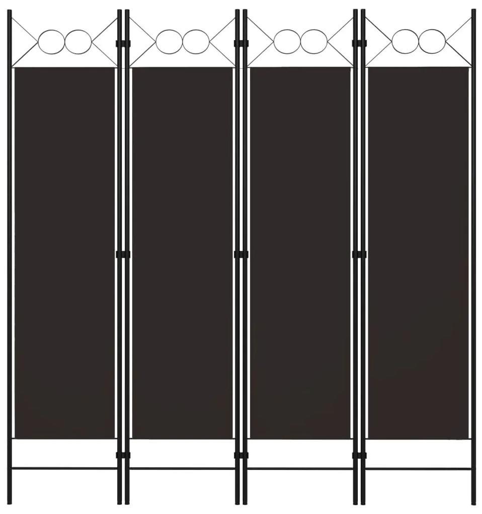 320703 vidaXL Paravan de cameră cu 4 panouri, maro, 160 x 180 cm