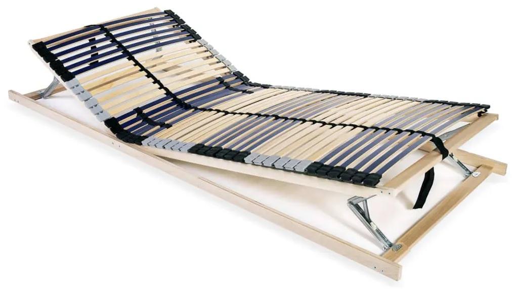 246473 vidaXL Bază de pat cu șipci, 42 șipci, 7 zone, 70 x 200 cm
