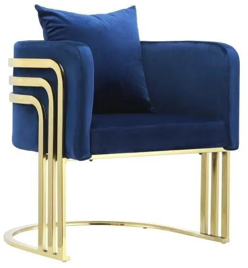 Fotoliu Blue Elegance 55 cm x 65 cm x 68 cm