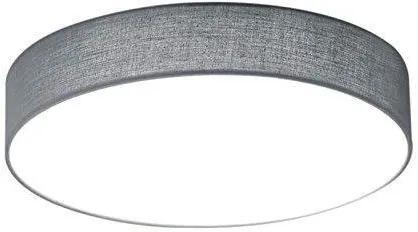 Plafoniera Lugano I, metal/textil, gri, 9 x 30 cm, 11w