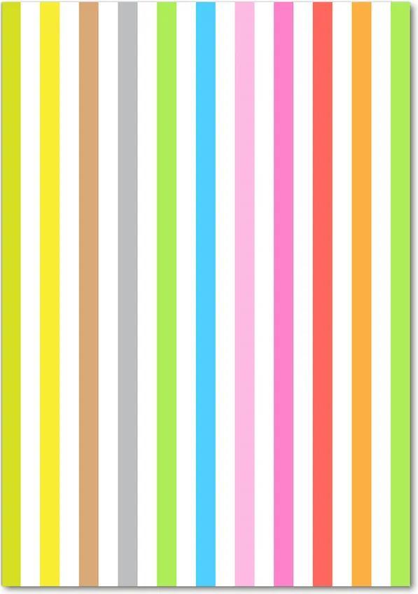 Tablou pe sticlă acrilică Dungi colorate