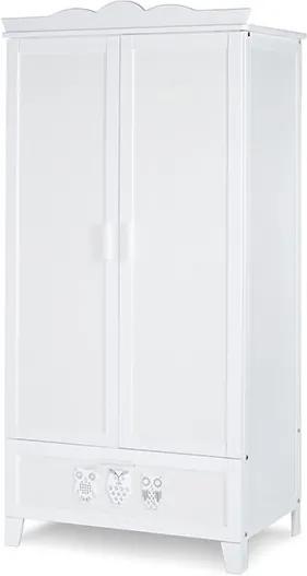 Klups - Dulap camera copii cu 2 usi Marsell Bufnite