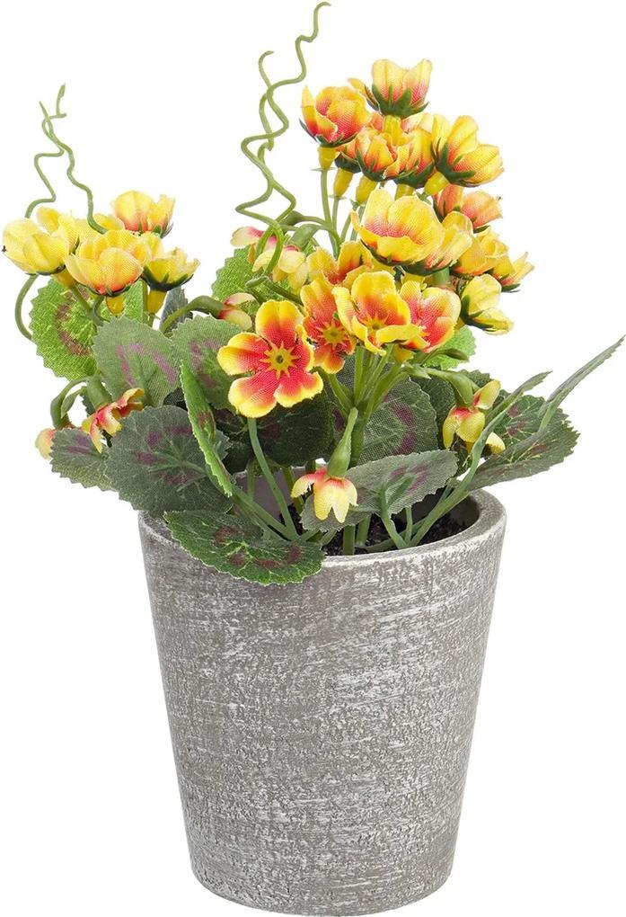 Flori artificiale galben in ghiveci Ø7x16h