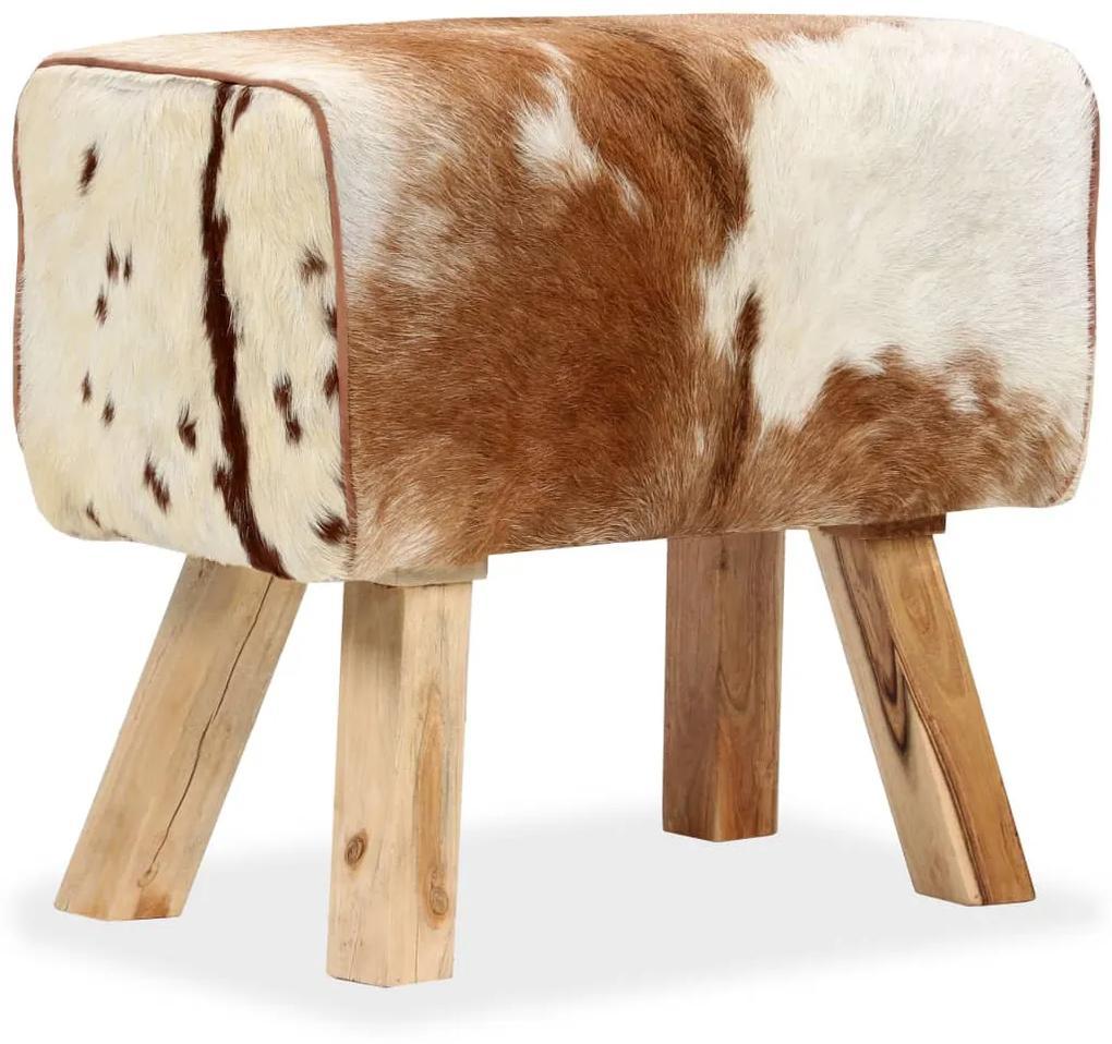 244754 vidaXL Taburet, 60x30x50 cm, piele naturală de capră