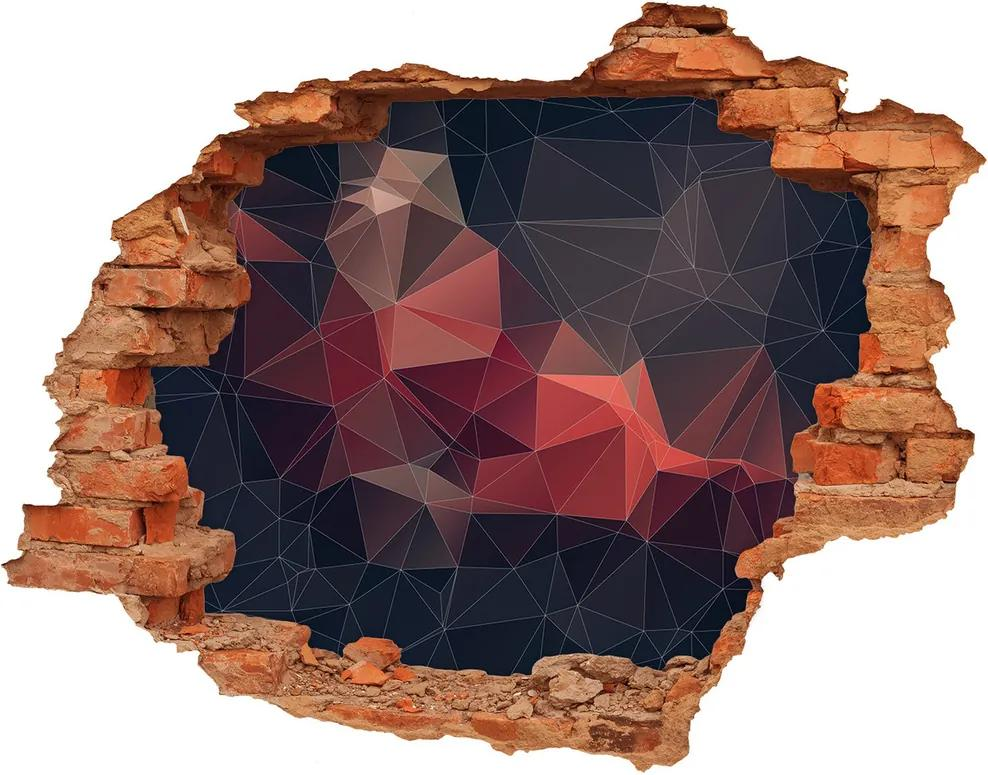Autocolant un zid spart cu priveliște Abstract