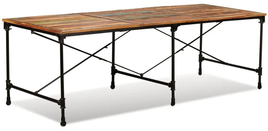 243994 vidaXL Masă de bucătărie din lemn masiv reciclat, 240 cm