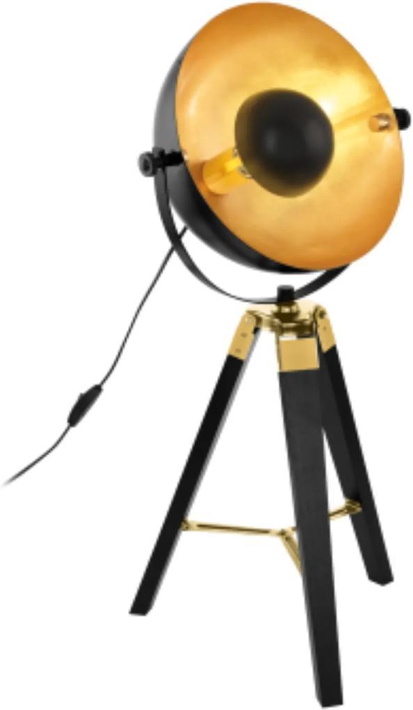 Lampă trepied Eglo COVALEDA 60W, negru-auriu
