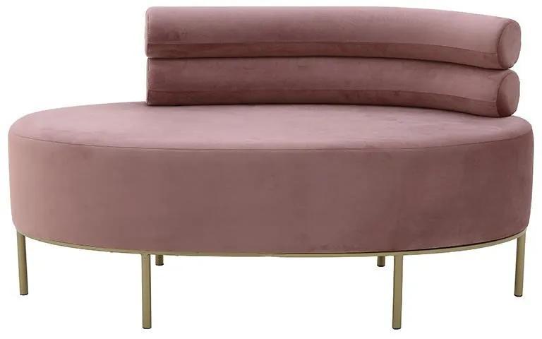Canapea Pink Velvet 116 cm x 54 cm x 66 cm