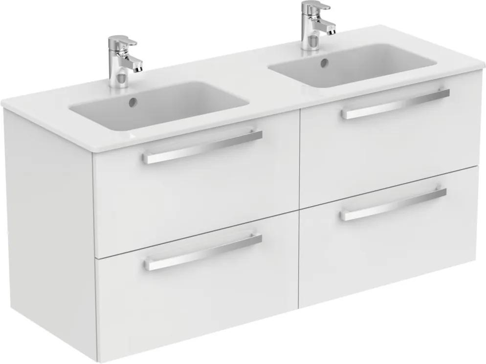Dulap baza suspendat Ideal Standard Tempo cu patru sertare, 120cm, alb lucios