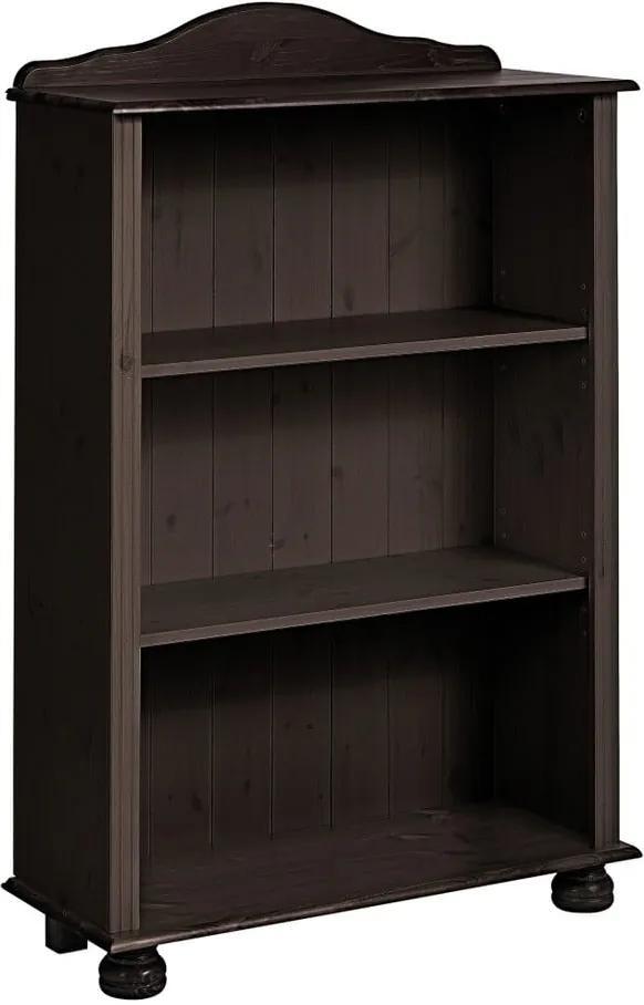Bibliotecă joasă din lemn de pin Støraa Ella, maro închis