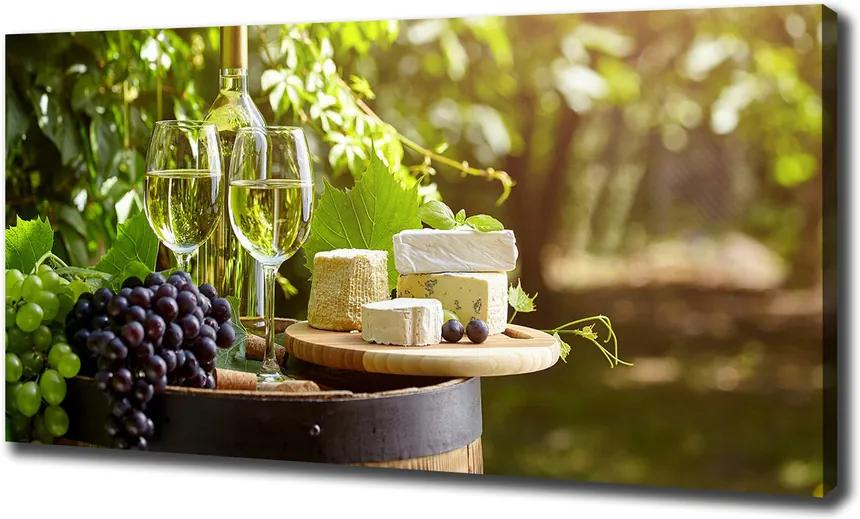 Tablou canvas Vin și gustări