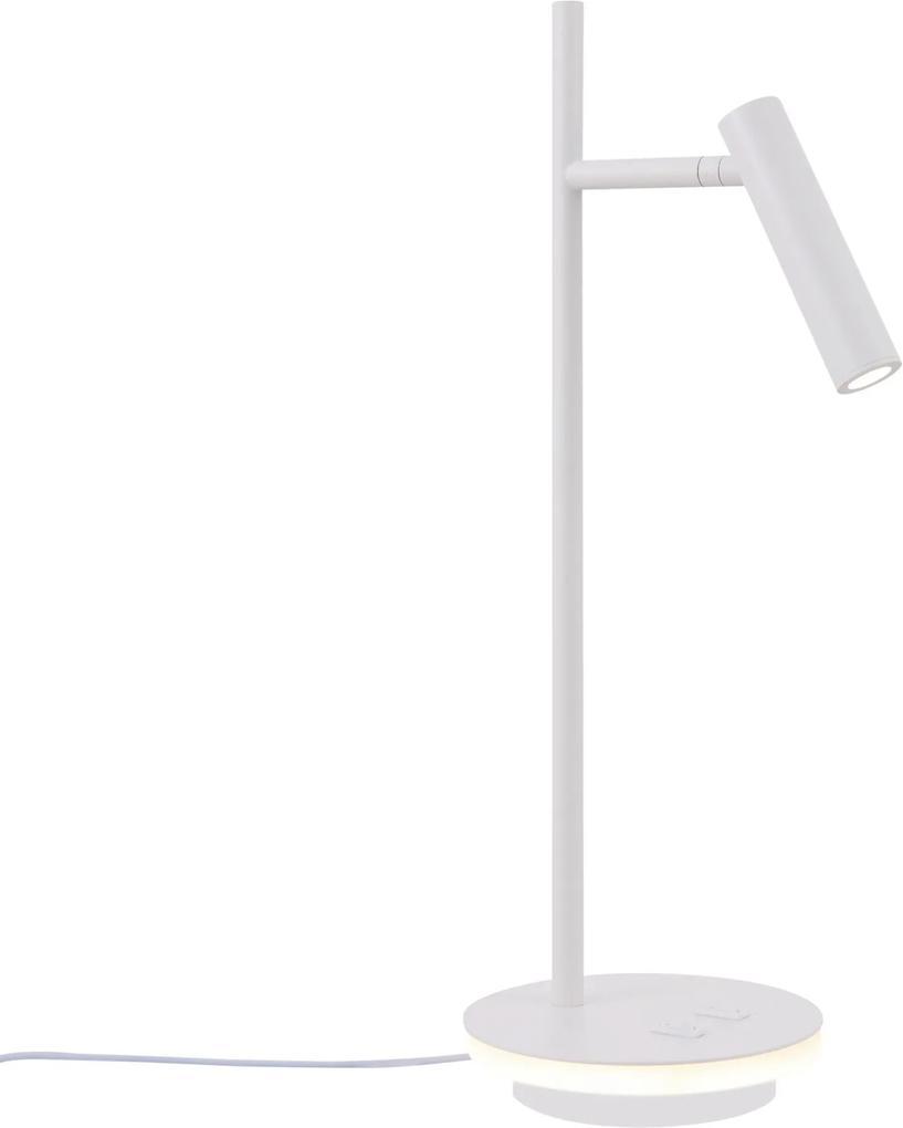 Lampa de birou metal alb cu LED Estudo White