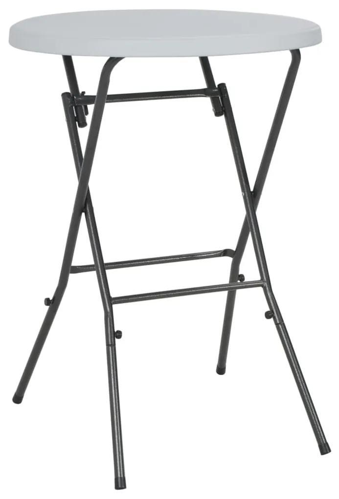 44560 vidaXL Masă de bar pliabilă, alb, 80 x 110 cm, HDPE