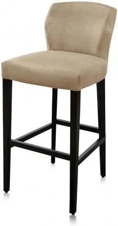 Scaun de bar din poliester cu picioare din fag Jasy 31