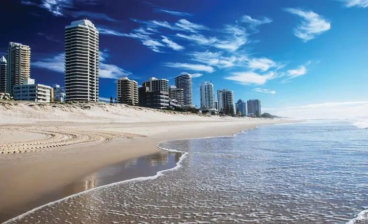 Beach Gold Coast Fototapet, (184 x 254 cm)