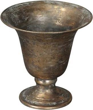 Vaza Antique Copper din metal 20 cm