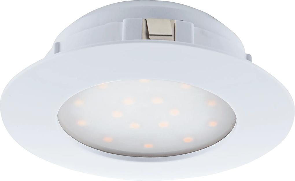 Spot incastrat PINEDA, 95887, LED, 12W, Ø 102, 1000 Lumeni, 3000 K (Calda), Plastic / Alb