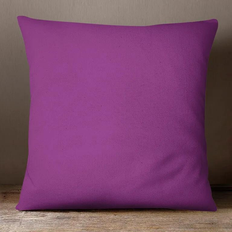 Goldea față de pernă din bumbac - violet 30 x 50 cm
