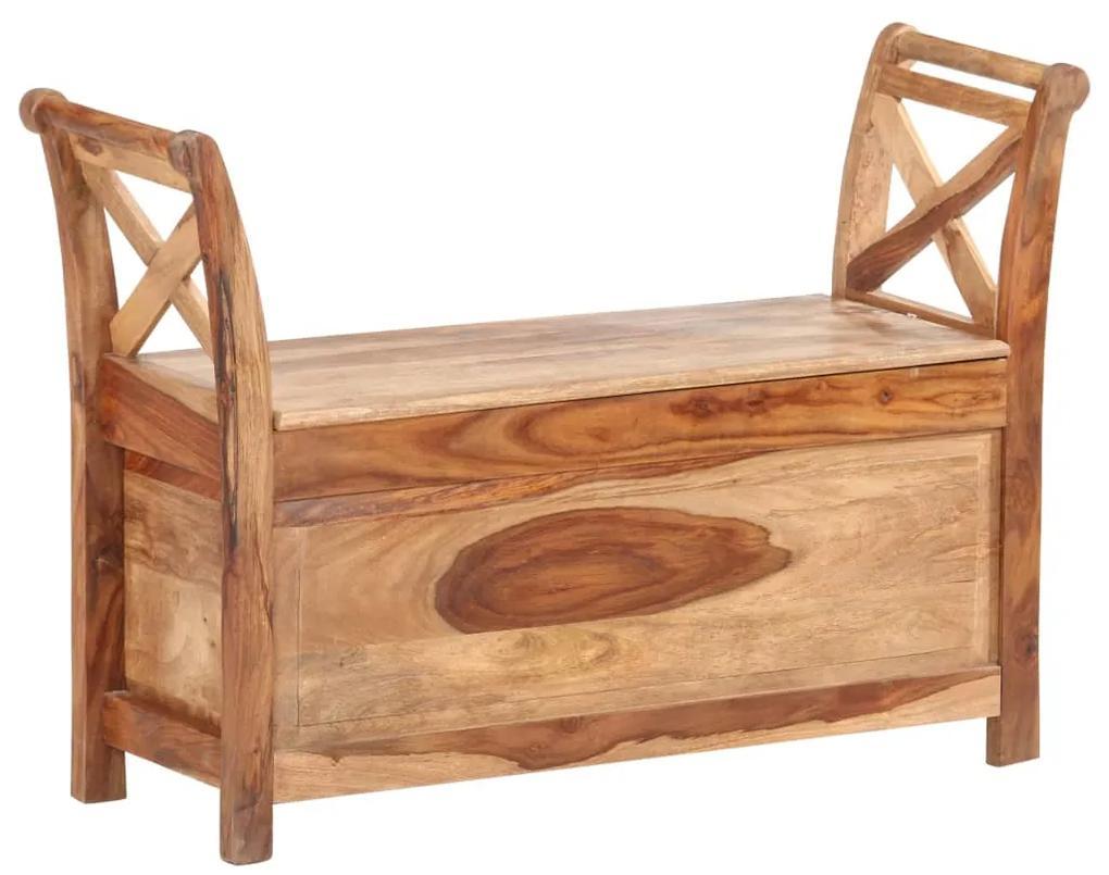 285906 vidaXL Bancă, 103 x 33 x 72 cm, lemn masiv de sheesham