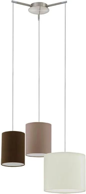 Eglo 92755 - Lampa suspendata TOMBOLO 3xE27/60W/230V